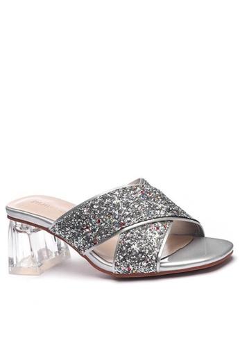 Twenty Eight Shoes 水晶玻璃踭涼鞋1801-3 ADF41SHC98A992GS_1