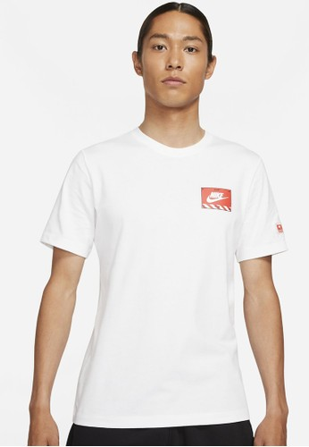 Nike white As M Nsw Tee Mech Air Figure DAB97AA4780105GS_1