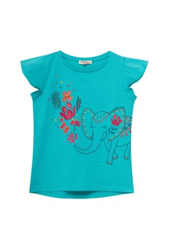 Du Pareil Au Même (DPAM) blue Graphic T-shirt 4E04DKA460AE97GS_1
