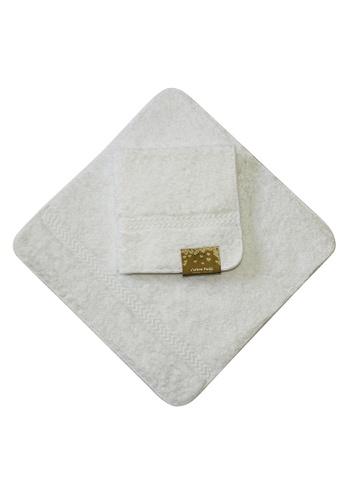 Cotton Fields white Cotton Fields Face Towel Plain 0EB0BHL4CC1724GS_1