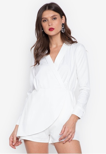 R.A.F. by Plains & Prints white Stent Playsuit 05269AA57F420EGS_1