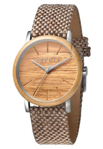 ESPRIT brown Esprit Men Plywood Brown Canvas ES1G030L0015 D9DADAC6324E7AGS_1
