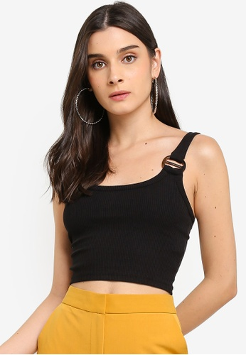 60175d6f96 Buy TOPSHOP Buckle Ribbed Crop Cami Online on ZALORA Singapore