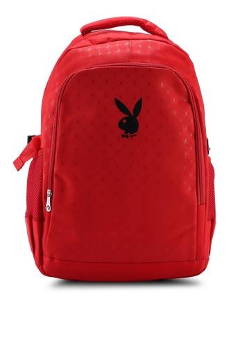 Playboy red Printed Backpack 507BCAC54ED20CGS_1