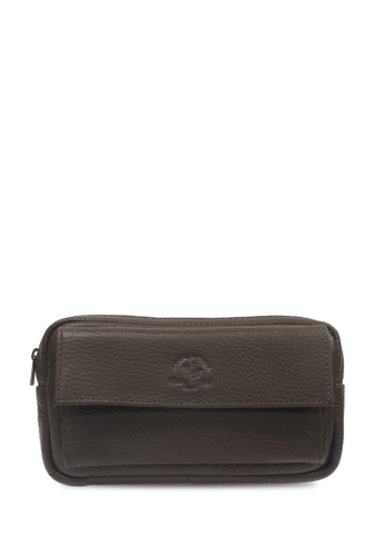 Santa Barbara Polo & Racquet Club brown Santa Barbara Polo & Racquet Club Large Clutch Bag 9EA9BAC4433945GS_1
