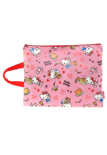 Hello Kitty pink Hello Kitty A4 Pencil Bag 58063KCD9E0F0DGS_1