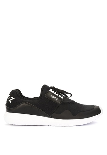 Andy Z black Men's Lace-up Low-cut Sneakers 0CEEDSH1A5E463GS_1