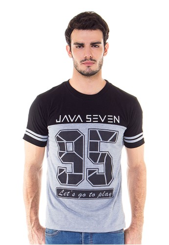 Casual Men T-Shirt Mastoti Java Seven Lets go play 95