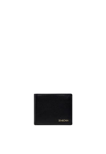 SEMBONIA black SEMBONIA Men Leather Wallet (Black) 3E47BAC030672DGS_1