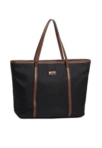 Twenty Eight Shoes black VANSA Simple Oxford Tote Bag VBW-Tb7058S D40AFAC239D469GS_1