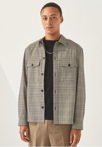 H&M brown Regular Fit Shirt jacket 3B58FAA92B7702GS_1