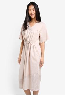 Dewy Drawstring Dress