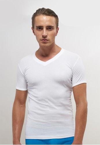 BODY CULTURE white T- SHIRT V-NECK 3IN1 38BE5AAFAC9567GS_1