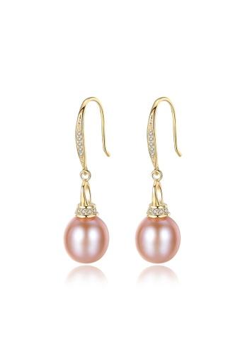 A.Excellence purple Premium Purple Pearl Elegant Earring FF371ACE61C44BGS_1