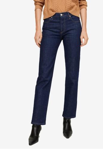 Mango blue High Waist Straight Jeans E3271AA7A7EF0EGS_1
