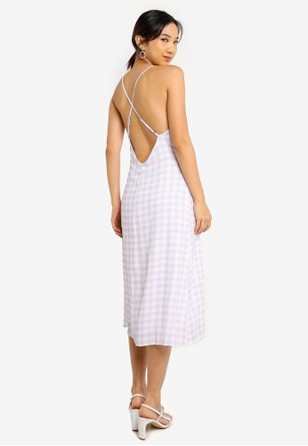 Charlie Holiday purple Bassk Slip Dress E4D1AAA120301BGS_1