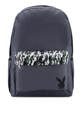 Playboy grey Playboy Backpack 965D9AC87B8F2CGS_1