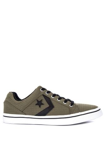 Converse green El Distrito Ripstop Textile Sneakers E68FBSHF881DB5GS_1