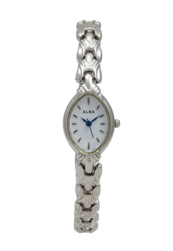 Alba silver ALBA Jam Tangan Wanita - Silver White - Stainless Steel - AC3L23 CA179ACE9A56ACGS_1