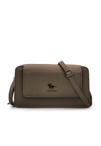 POLO HILL brown POLO HILL Ladies Multi Purpose Smartphone Purse Wallet Sling Bag 8EB60ACA73F1A2GS_1