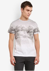 ZALORA white Printed Clouds Tee A6A88AAC2CB05AGS_1