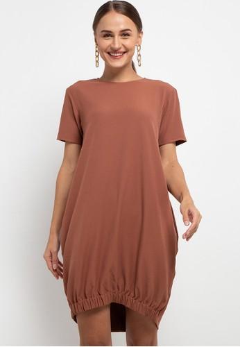 h2 harlan brown Garter Hem Dress EEB05AA71FE3A9GS_1