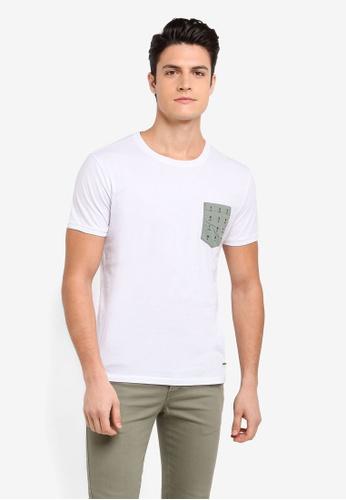 BOSS white Tean T-Shirt - Boss Casual C557DAAF366141GS_1