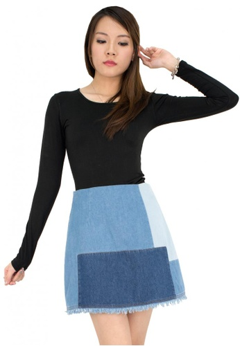 MOONRIVER Carrie Demi Patch Design Jenas Skirt MO886AA0F4NRSG_1