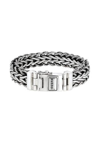 KUZZOI silver Perhiasan Pria Perak Asli - Silver Gelang Armored Style Silver 82102ACBB5B1A8GS_1