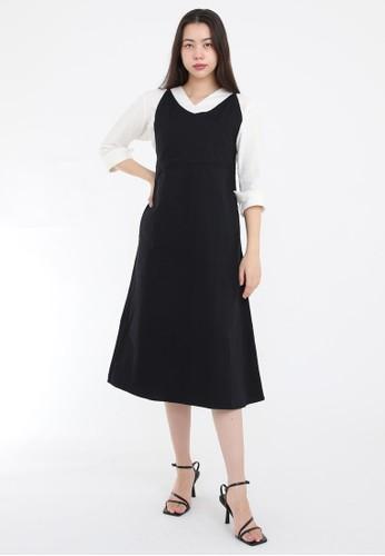 Simplify black Alaia Midi Dress Black 98B7EAAA56B597GS_1