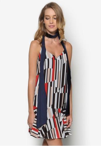 藝術風條紋連身裙, 服飾, esprit旗艦店服飾