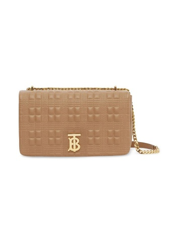 Burberry brown Burberry Medium Quilted Shoulder Bag in Camel/Light Gold A42FCAC3E930B6GS_1