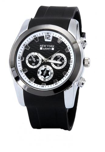 Greatvalueplus black Denver Dial Rubber Strap Watch 8F3BEAC87507D4GS_1