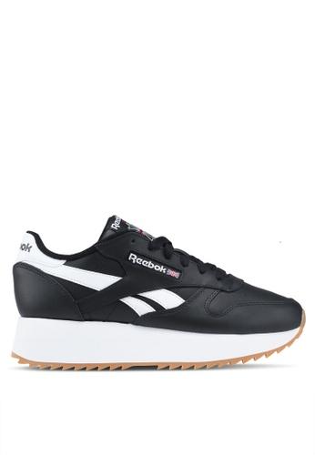 Reebok black Classic Leather Double Shoes 4C5E7SH51F4B3EGS_1