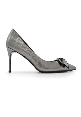 Gripz silver Ciara Pointed Toe Stiletto Heels GR357SH76BSPSG_1