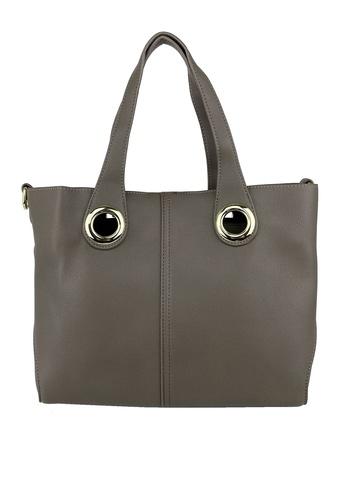 Mel&Co grey Top Handle Satchel Bag 54E46AC5F29471GS_1