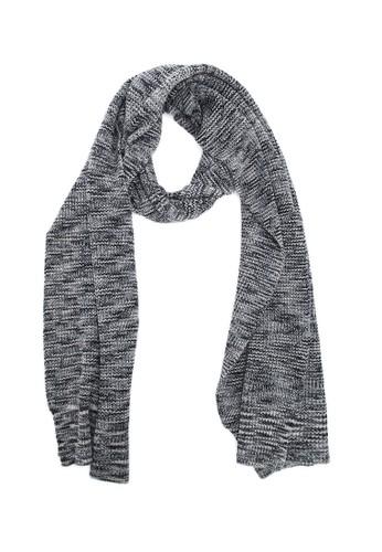 藏式條esprit outlet 香港紋圍巾 - 黑, 飾品配件, 披肩