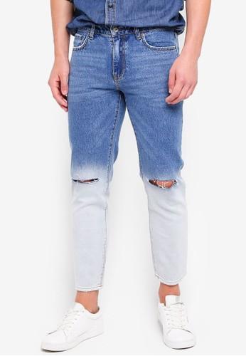 MANGO Man blue Ripped Jeans 77924AAF5F49D4GS_1