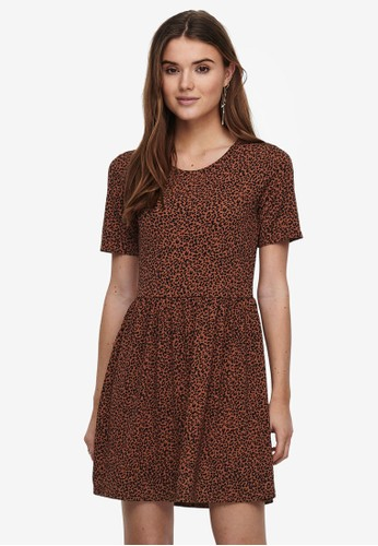 JACQUELINE DE YONG brown Kirkby Printed Dress 357A7AAB238F37GS_1
