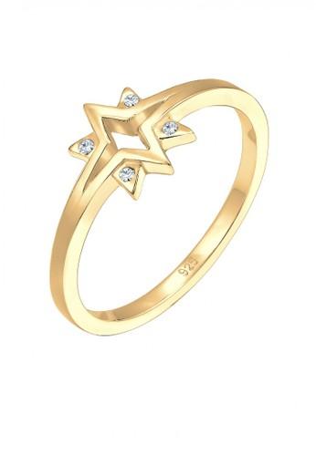 Elli Germany gold 925 Sterling Silver Cincin Starburst Swarovski® Lapis Emas Emas 7CE72AC45CC707GS_1