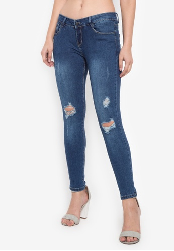 Balaynor blue Fashion Skinny Denim Distressed Jeans 9A42FAAA60AB8BGS_1
