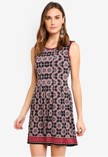 Max Studio multi Knit Pleated Dress 7AFECAA683E79CGS_1