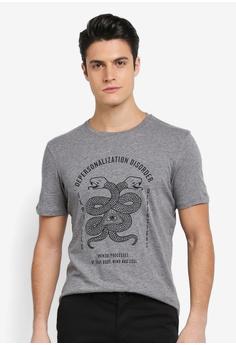 Sisley grey Snake Print T-Shirt F5784AA78B353CGS 1 251e74b32