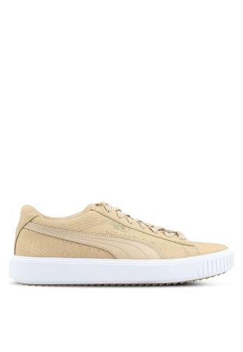 Puma brown Puma Breaker Suede Sneakers PU549SH0SWFCMY_1