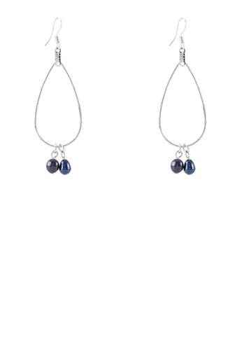Hzalora 心得 pttanya 滴水形珍珠吊飾耳環, 飾品配件, 其他