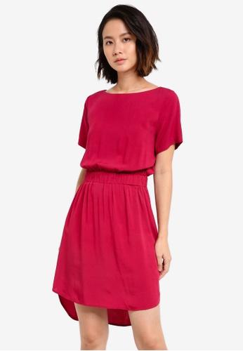 ZALORA red Elasticated Waist Dress 43B5CZZ02EE967GS_1