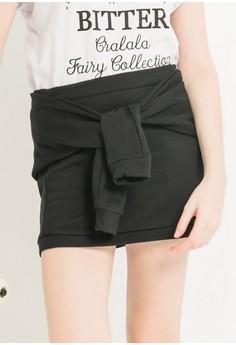 Knot Tie Cotton Skirt