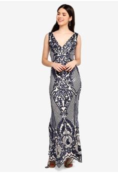 e6e8efb06a22 55% OFF Goddiva Sleeveless Empire Maxi Dress RM 519.00 NOW RM 233.90 Sizes  10