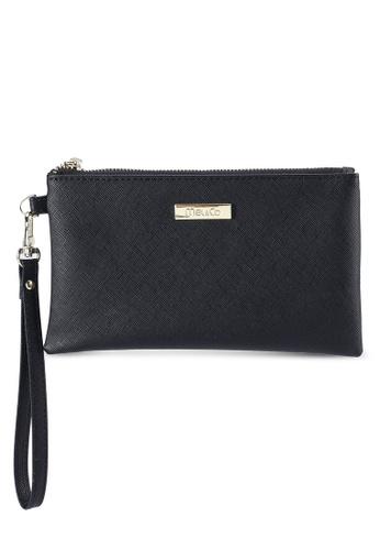 Mel&Co black Faux Leather Clutch Wristlet C3059AC5DE3175GS_1