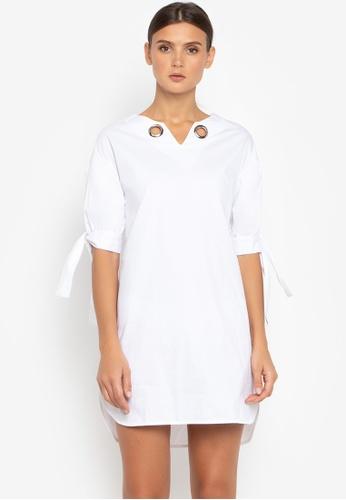 Susto The Label white Izzy Eyelet Dress 54E38AA45F334CGS_1